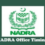 NADRA Office Timing City Wise with Helpline Numbers