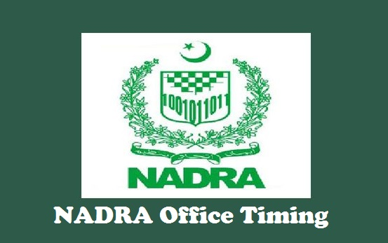 NADRA Office Timing