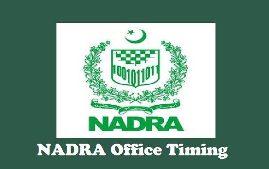 NADRA Office Timing