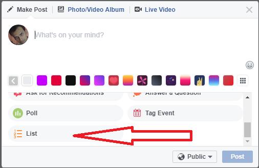 facebook status list