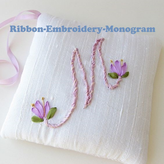 Ribbon Embroidery Style Simple and Beautiful.