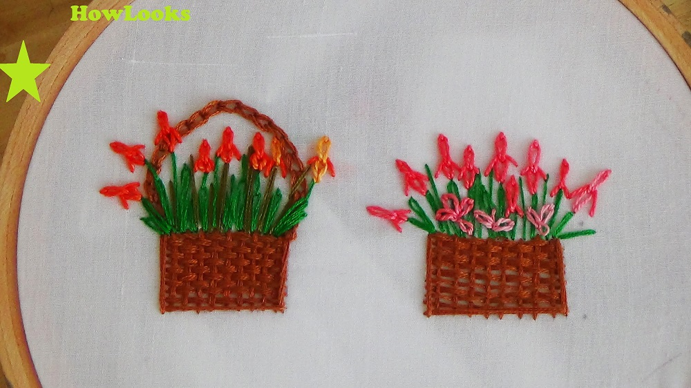 Simple flower Design for Pillow Hand Embroidery
