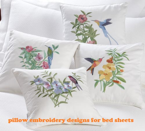 Pillow Embroidery Design Multi Color