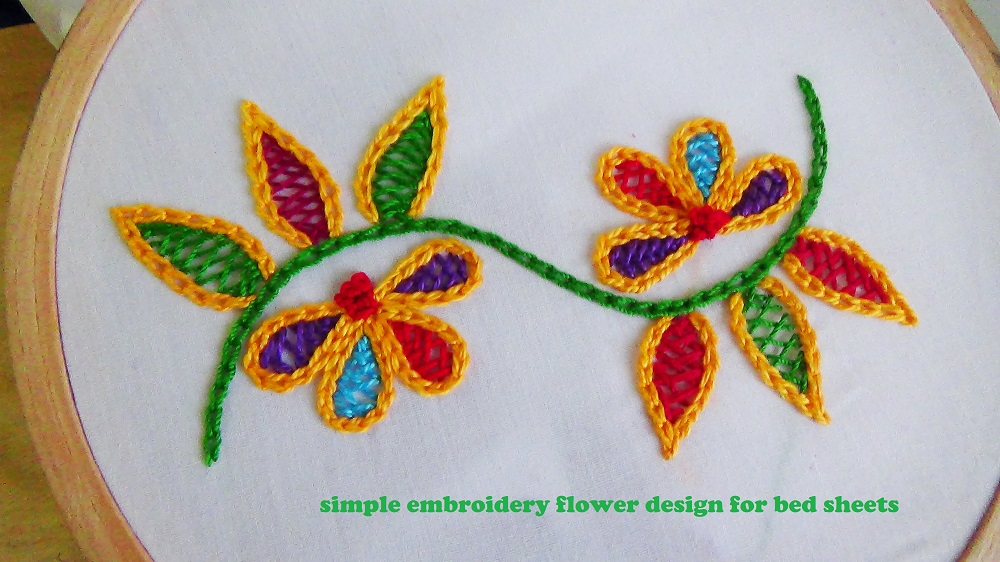 Pakistani Embroidery Flower Design.