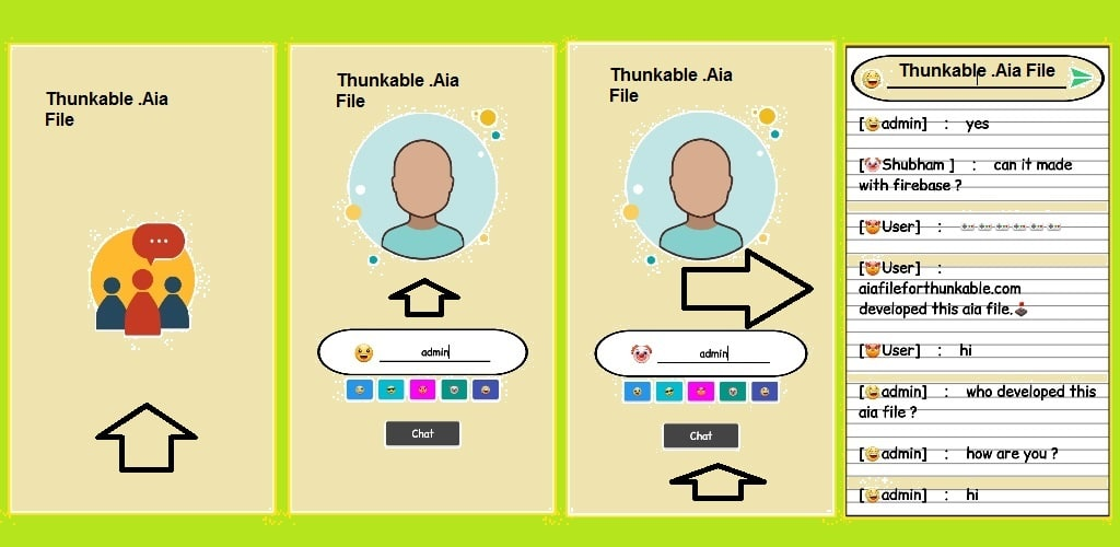 Free Download Chat Pro App aia File For Thunkable